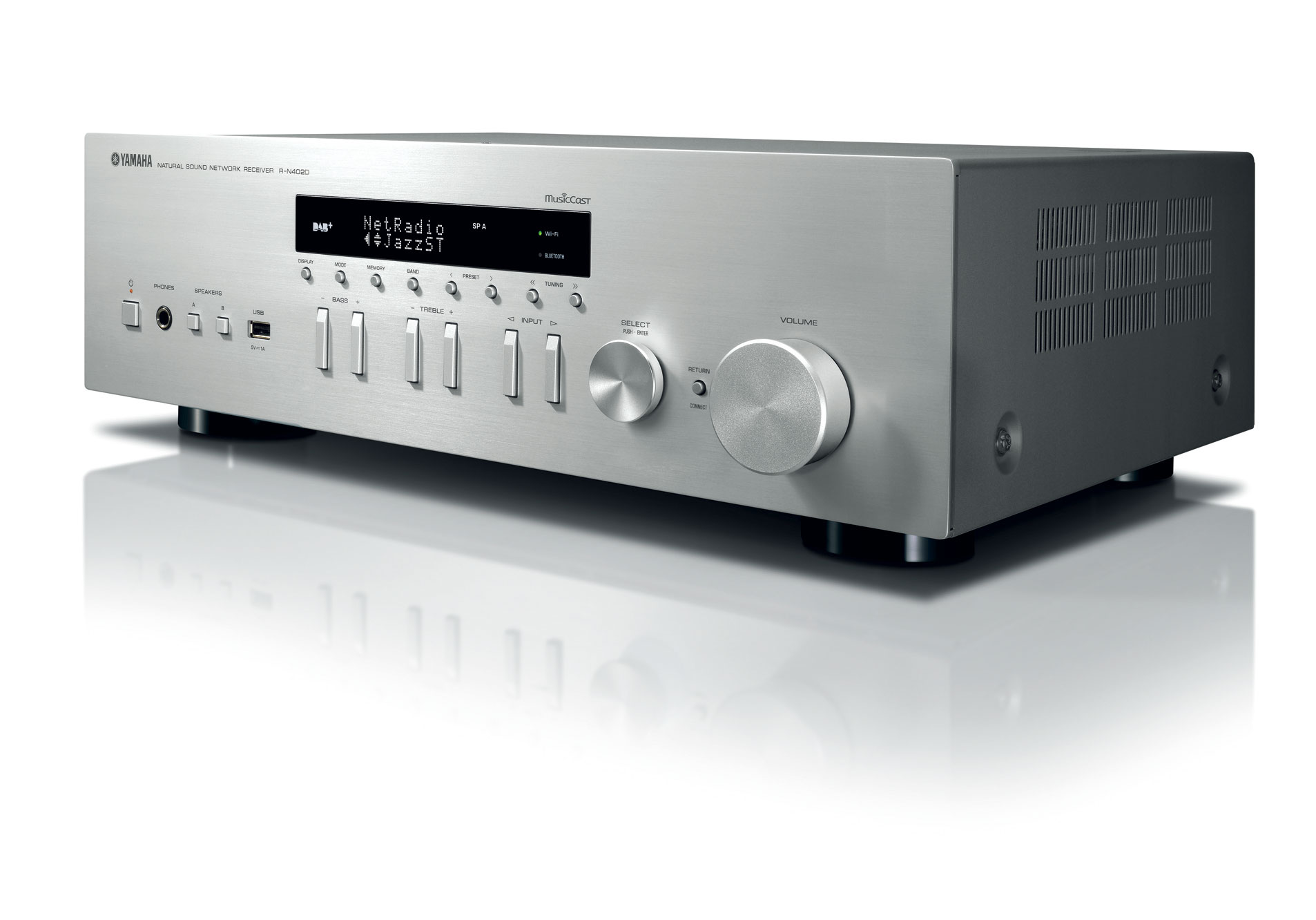 Yamaha R-N402D Kolor: Srebrny