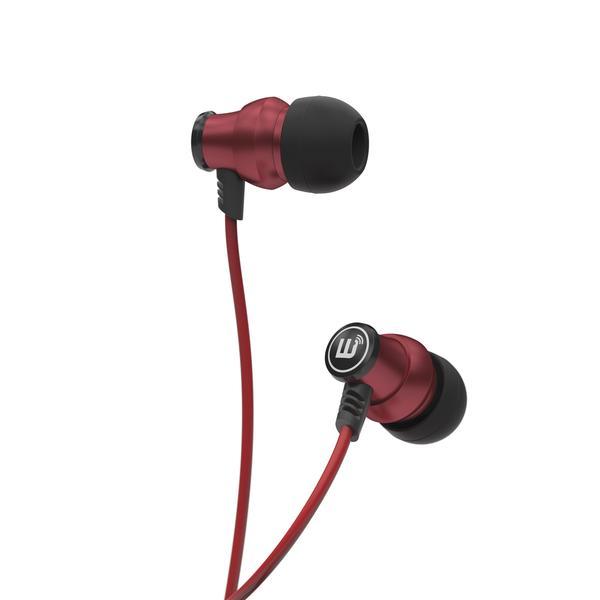 Brainwavz Delta z mikrofonem + pianki Comply Kolor: Czerwony