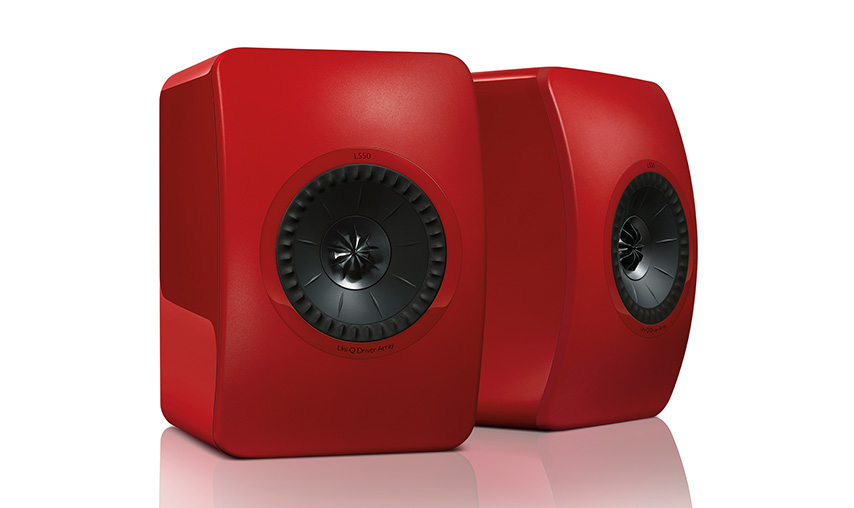Kef LS50 Kolor: Czerwony